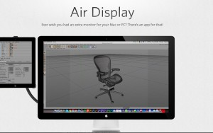 Air Display -second monitor using iPad/mobile device