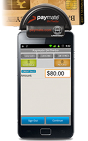 PayMate Credit Card Swiper and App