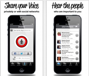 App that records 15 seconds of audio to share on social media.