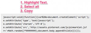 This is the code so you can Pin items to your pinterest board via your mobile device.