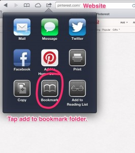 An easy way of adding bookmarks to your folder.