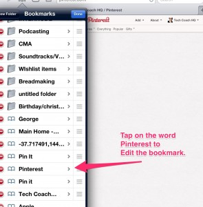 Edit your bookmark title- follow instructions.