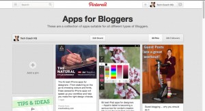 Tech Coach HQ's Pinterest Page on Apps for Bloggers.