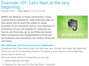 Evernote Series Part 1: Being Organised.