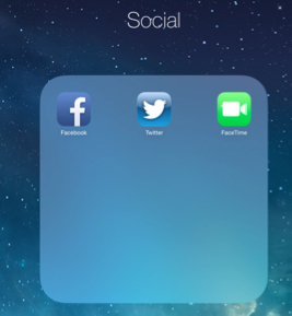 Create folders on your iDevice to keep it tidy.