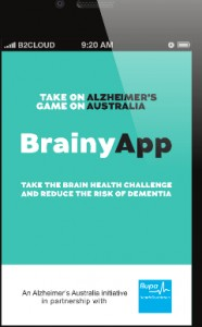 Brainy App from Alzheimer's Australia and Bupa Australia