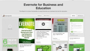 Evernote for business and education Pinterest Board