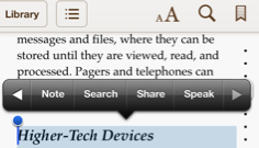 iBooks Features Speak