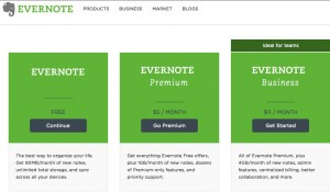 Evernote set up