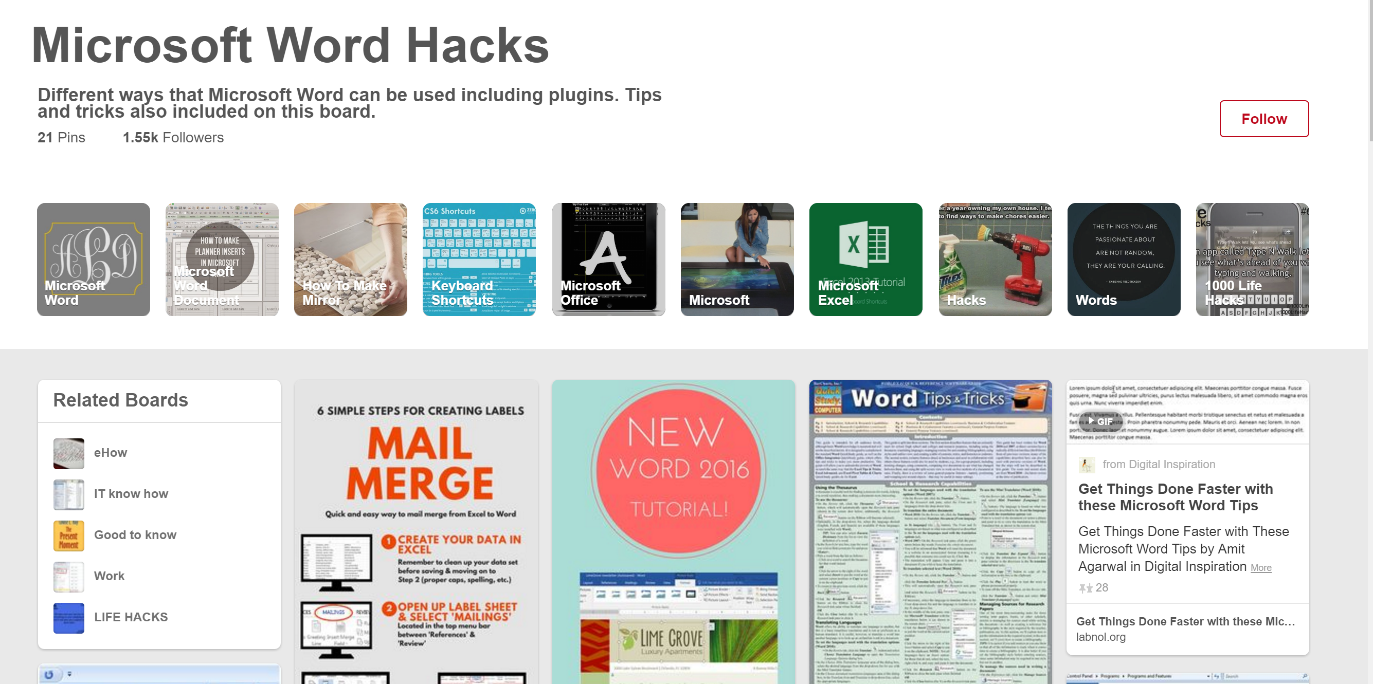 Microsoft Word Hacks on Pinterest