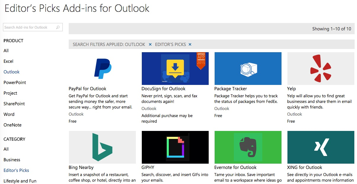 Plugins for Outlook